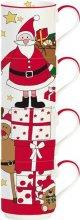 Easy Life Santa & Friends 4er Set Porzellanbecher stapelbar 200 ml in Geschenkbox SAFR1039