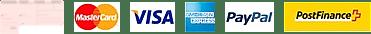Akzeptierte Zahlungsmethode: Kreditkarte, Rechnung, Vorauskasse, Twint, Postfinance